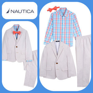 Nautica BOYS 4-PC Oxford Gingham Suit 3T